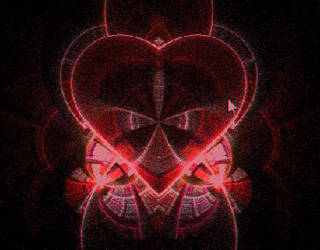 Beautiful Red Gothic Heart by GeneralSKAR