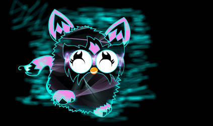 neon music furby by furbyrock04