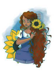 Sunflower girl by Bonequisha