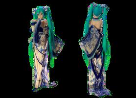 Model DL - TDA Kimono Miku Type-elina002 by elina002