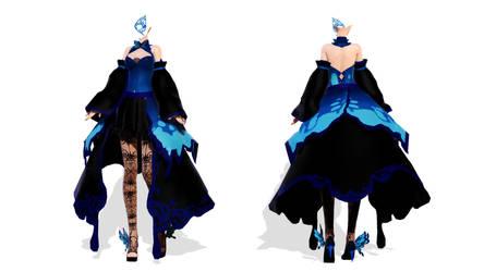 DL Down - TDA Butterfly Dress Body by elina002