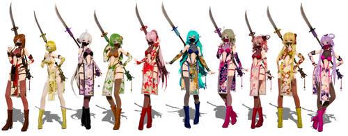 TDA Momiji Ninja Pack by elina002