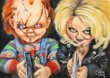 Bride of Chucky by Sianypantsart