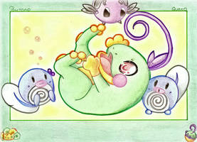 ::Playful Little Water Types:: by angel-of-time