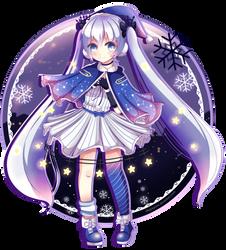 Winter Night Miku by Pokkiu