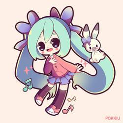 Feeling Happy Miku by Pokkiu