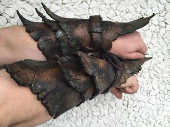 Orc bracers by PatinaLeathercraft