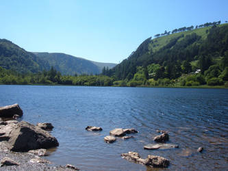 Glendalough upper lake by MOURNING-SKY