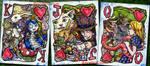 Wonderland Three Face Cards by jbrenthill
