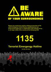 Anti-terrorism Hotline Poster by azumeris