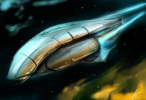 spaceship by VIZg