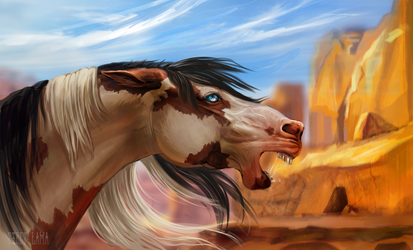 YCH Commission - Desert by Tibet-Lama