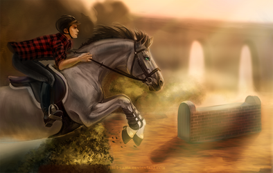 Commission ych - The race with the Sun by Tibet-Lama