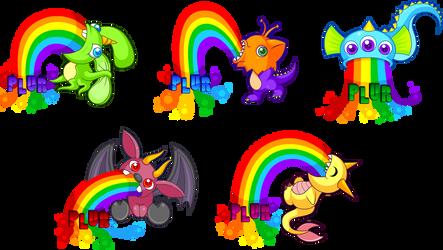 PLUR Puking Rainbows by TiffanySketches