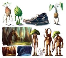 trees and vgtbls by ShaggyHandlz