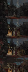 The painting process of Game of Blood Sacrifice by 6kart