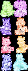 Pastelly Dragon Girls Adopt CLOSED by ShiToHoshisaki