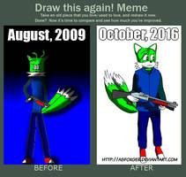 Draw this again - Daniel the Fox by AsFoxger