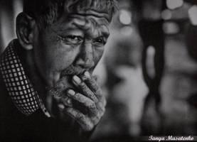 Old man by TanyaMusatenko