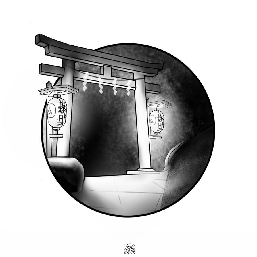 Guarded  - Inktober 2018 by Photomentation