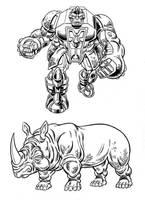 Beast Wars Rhino by Simon-Williams-Art
