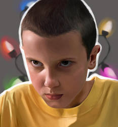 Eleven - Stranger Things by TopHat-And-Tentacles