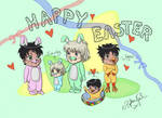 Happy Easter from the Malfoys by Haadogei