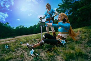 Breath of the Wild - Link and Zelda by Rei-Suzuki