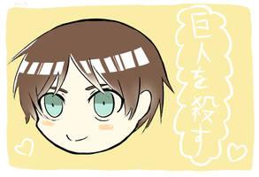 Chibi Eren Doodle by XxShio-ChanxX