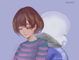 frisk X sans by Xylica
