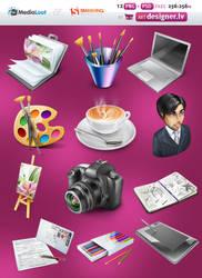 Designer portfolio icons by lazymau