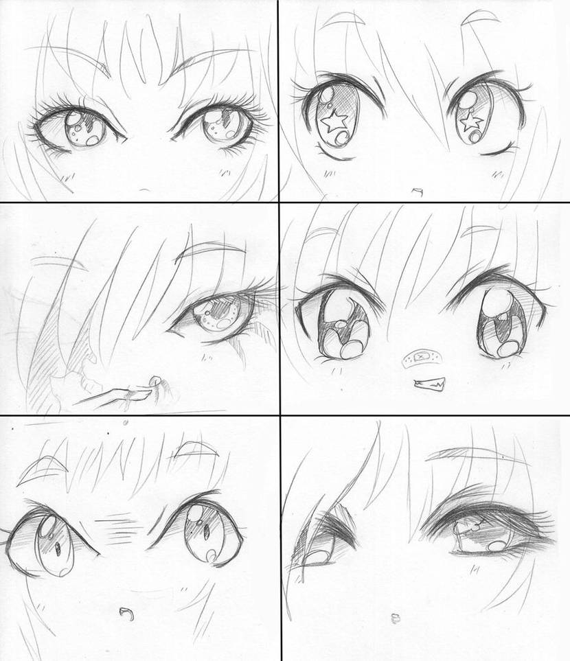 Manga eyes manga faces by capochi