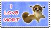 I Love Mort Stamp by April-Moon