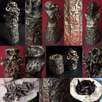 Ancient Spanish Necropolis Gold Cthulhu Idol by mortonskull