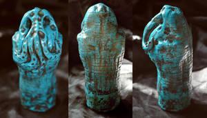 Turquoise Cthulhu Idol I by mortonskull