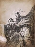 The Three Witches, scatch. by darkodordevic