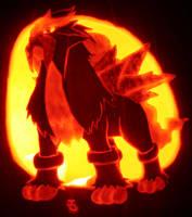 Entei - Beast of Fire by johwee