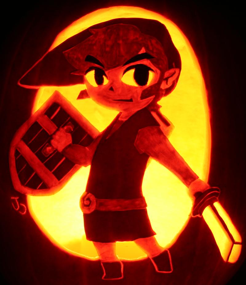 Link: The Hero of Pumpkins by johwee