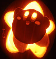 Pumpkin Star Kirby by johwee