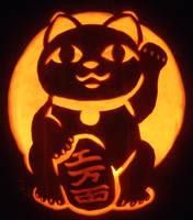 Maneki Neko Pumpkin by johwee