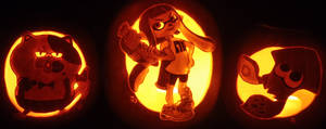 Stay Fresh! Splatoon Pumpkin Trio by johwee
