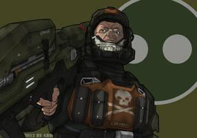Dutch from Halo: ODST by GRANDBigBird