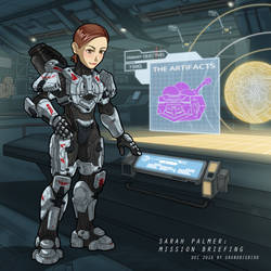Sarah Palmer: Mission Briefing by GRANDBigBird
