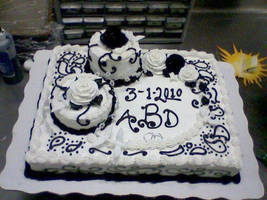 Makeshift Wedding Cake by SonicRose