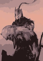 Artorias and Sif -Dark Souls fanart by Pureadimelograno