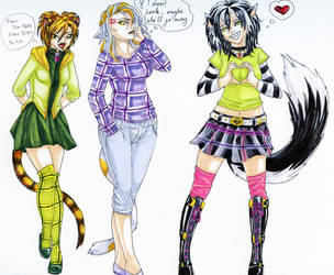 My Kitties - Humanized by Tal-Ki