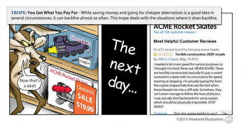 TvTropes - You Get What You Pay For by MikeHowland