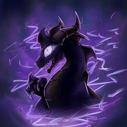 Dark Spyro Bust by JazzTheTiger