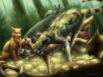 Warriors: Rusty vs. Longtail by JazzTheTiger
