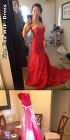 Fire Elsa WIP: Dress by cindyrellacosplay